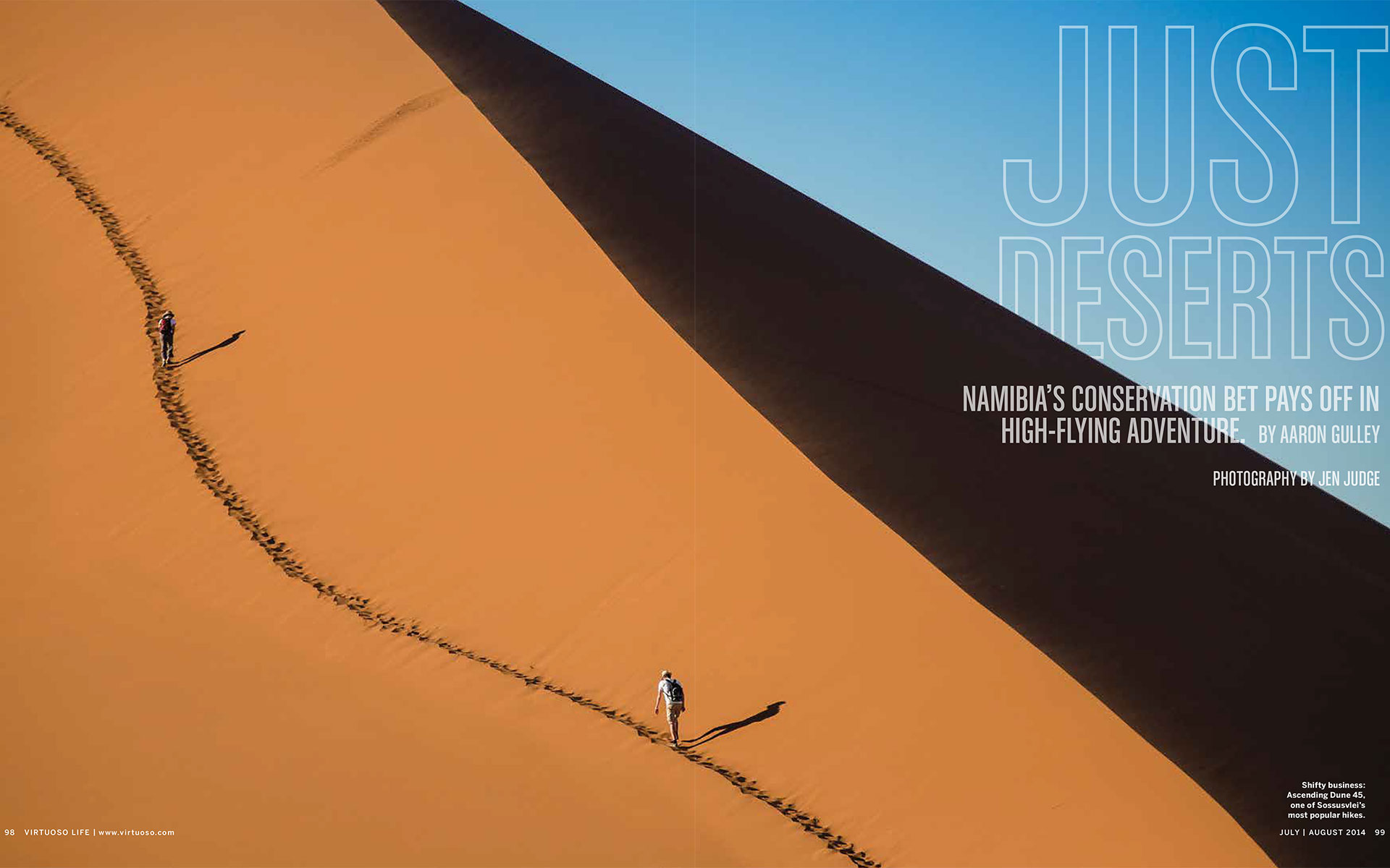"<p style=""text-align: center;""><b><font color=""2a2871"">Just Deserts, Virtuoso Life, July 2014</font></b>